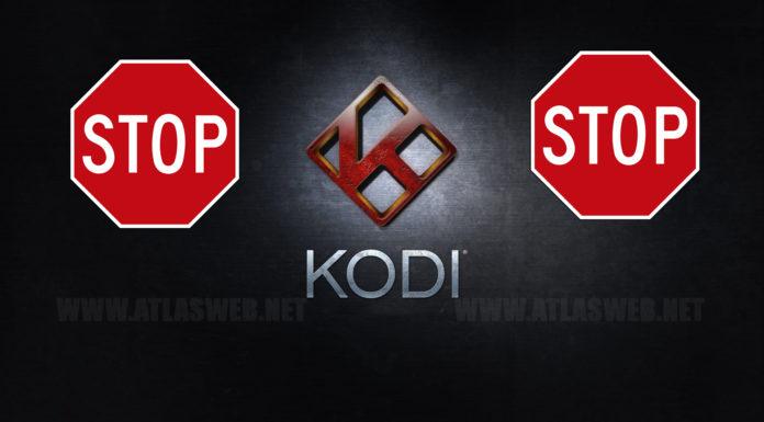 Kodi : dépôts et extensions suspendus.
