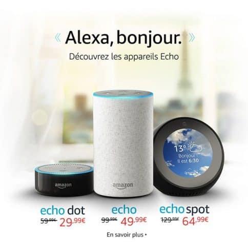 Bon Plan : 50% sur Les appareils Amazon Echo.
