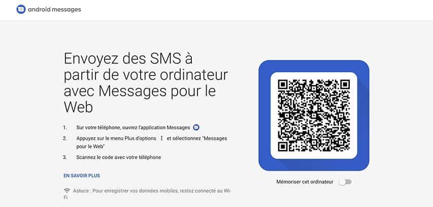 Messages pour le Web