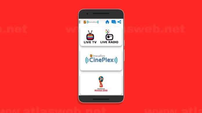 InstaBox TV : Application Android IPTV pour chaînes télé et sportives.