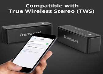 Tronsmart Element Mega Bluetooth Speaker with 3D Digital Sound TWS 40W Output - Black