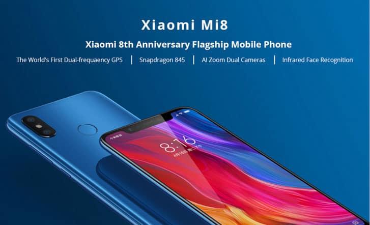 Xiaomi Mi 8 6.21 Inch 4G LTE Smartphone Snapdragon 845 6GB 128GB