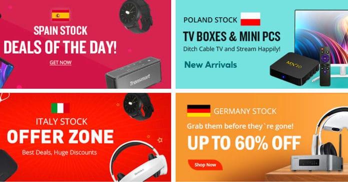 Promotion Geekbuying: Vente de printemps de TV Boxes & produits électroniques (coupons).