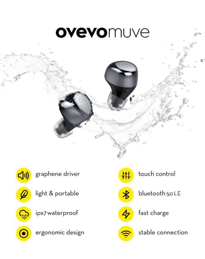 OVEVO-Q65-TWS-Bluetooth-V5-0-Touch-Control-IPX7-Waterproof-Wireless