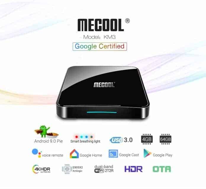 MECOOL KM3 Google Certified Amlogic S905X2 Android TV 9.0